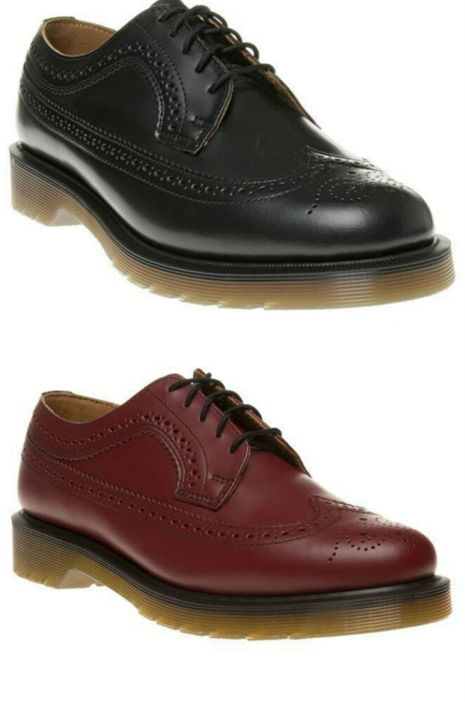 504e1df301ea Details about Dr Martens 3989 Brogue Shoes in Cherry Red or Black