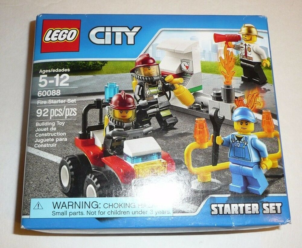 lego city set 60088 fire starter set firemen mini figures 92 pieces ebay. Black Bedroom Furniture Sets. Home Design Ideas