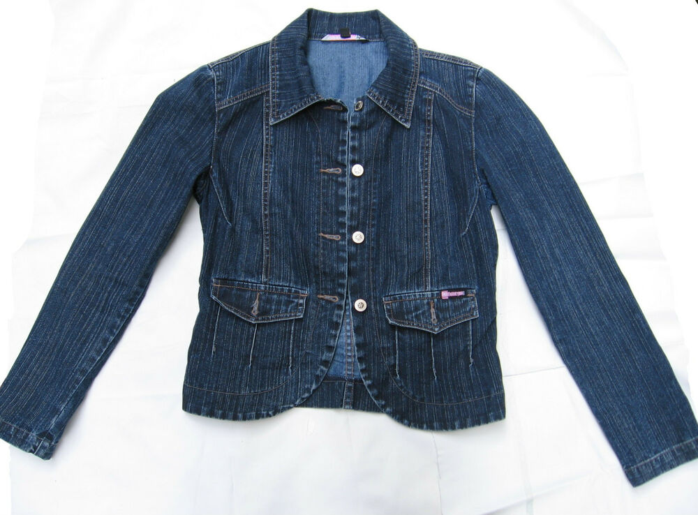Womenu0026#39;s Bubble Gum Blue Jean Denim Jacket (Petite Size 5) | EBay