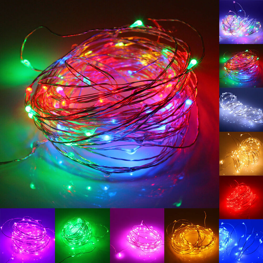 M led battery operated mini copper wire string