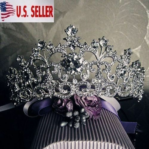 Wedding Hairstyles With Jewels: New Bridal Crystal Tiara Crowns Hair Jewelry Rhinestone
