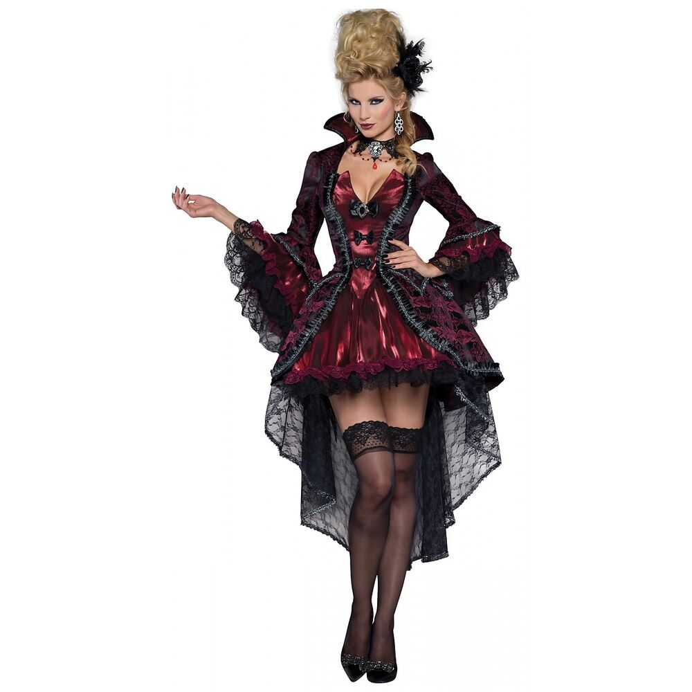 vampire costume adult victorian masquerade halloween fancy dress ebay. Black Bedroom Furniture Sets. Home Design Ideas