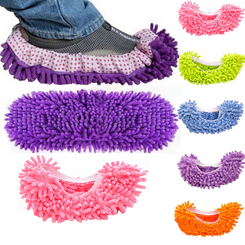1pcs Dust Floor Cleaning Slippers Multifunction Shoes Mop
