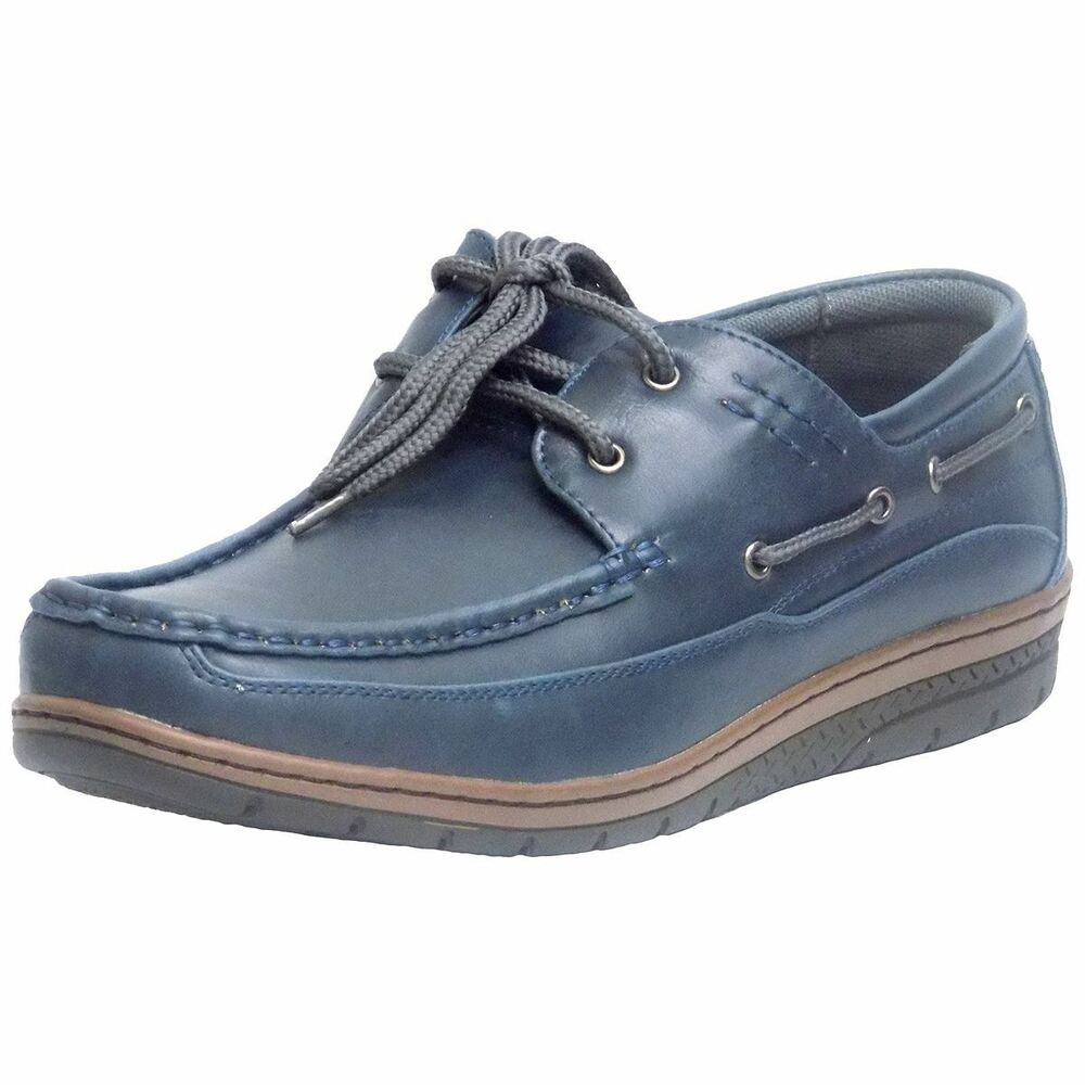 Scans 68102NV Mens Navy Casual Laced Comfort Walking ...