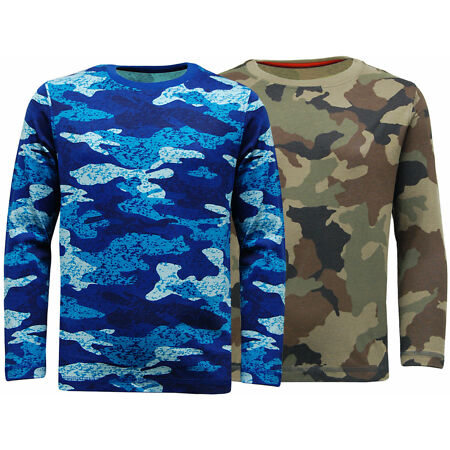img-Kids Boys Army Soldier Long Sleeve Camo T Shirt | Camouflage Top |