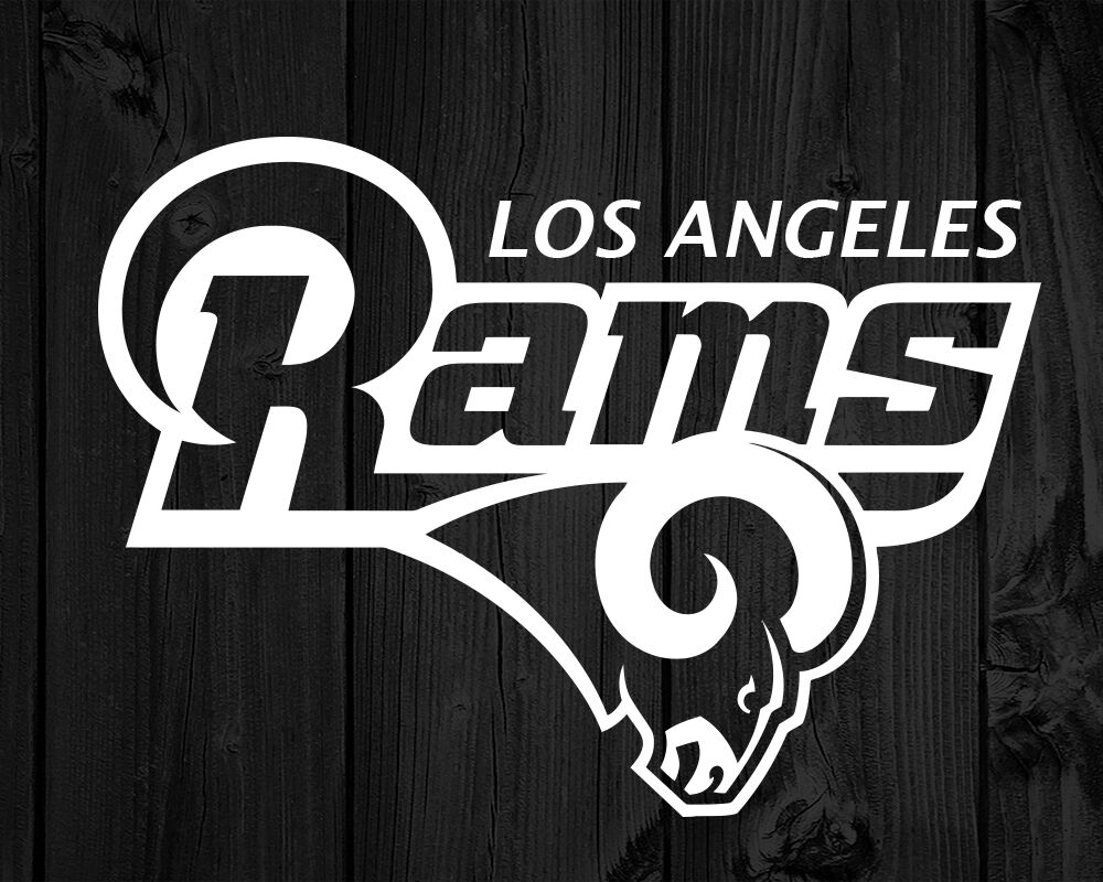 Los Angeles Rams Decal Large Vinyl Sticker White Approx 16