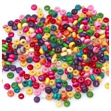 Wholesale 1000 Pcs 4mm Mixed Color Rondelle Wood Spacer Beads Loose Beads Charms