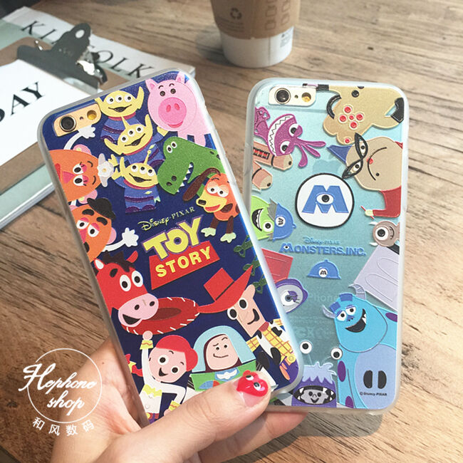 Case Of Toy Story Games : D cartoon cute toy story monster inc university case for