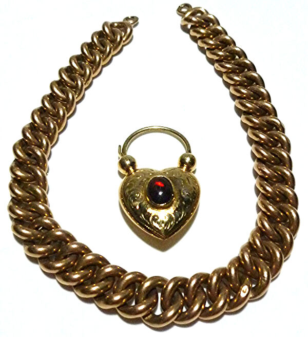 Gold Chain And Padlock Necklace