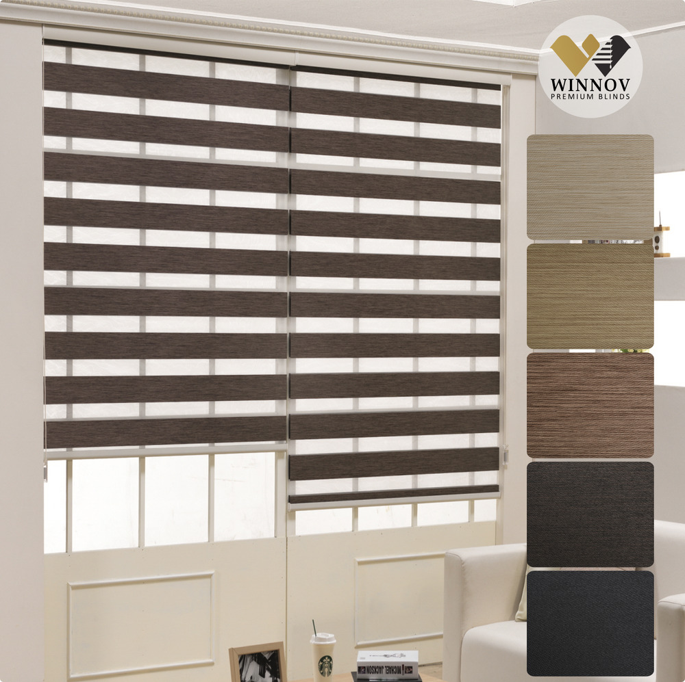 B Amp C Over 95 Black Out Roller Zebra Shade Home Window