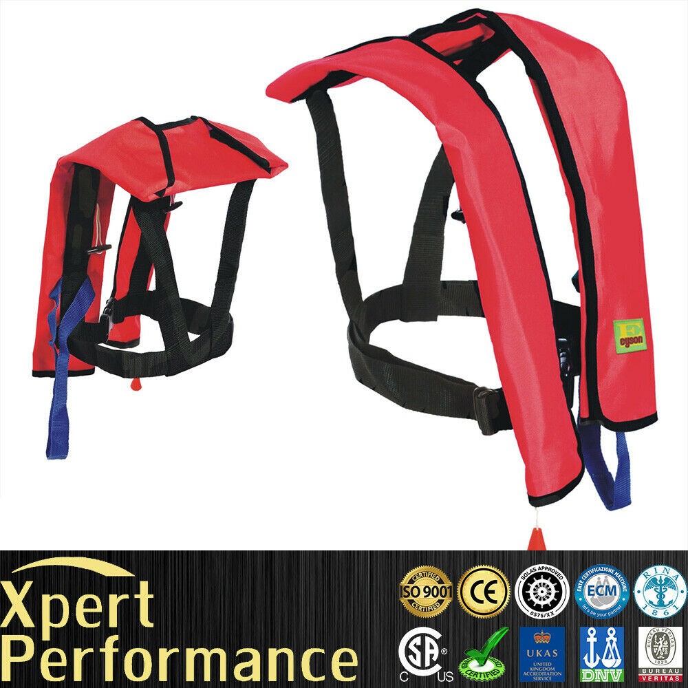 Top quality inflatable life jacket survival aid life vest for Best inflatable life vest for fishing