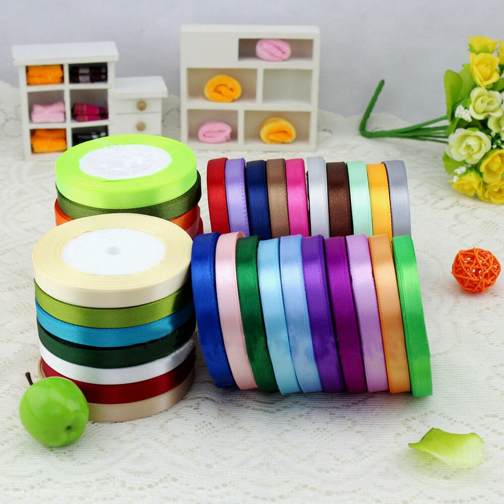 crafts with ribbons ideas new pretty 25 yards satin ribbon wedding craft hair 4161