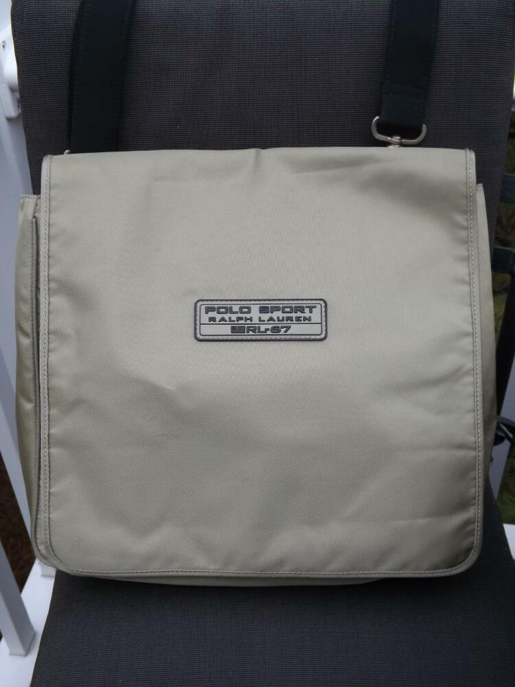 Details about Vintage Polo Sport Ralph Lauren RL-67 Green Messenger Bag 99bd483d18e14