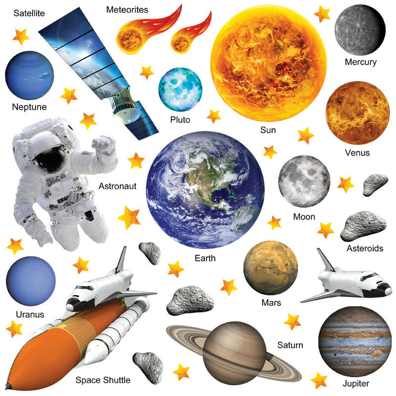 Planet Wall Stickers Solar System Wall Stickers Space Wall