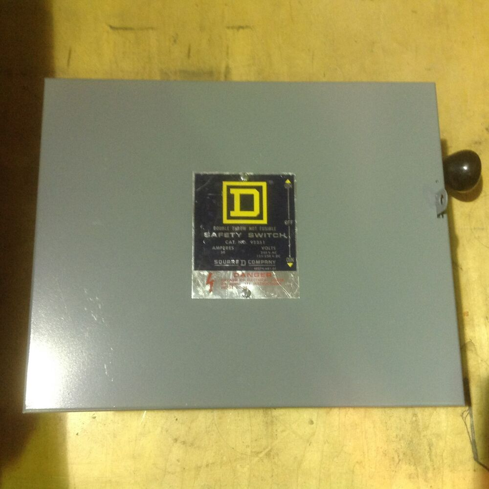 Square D 92351 Manual Transfer Switch 30 Amp 240 Volt 3 Manual Guide