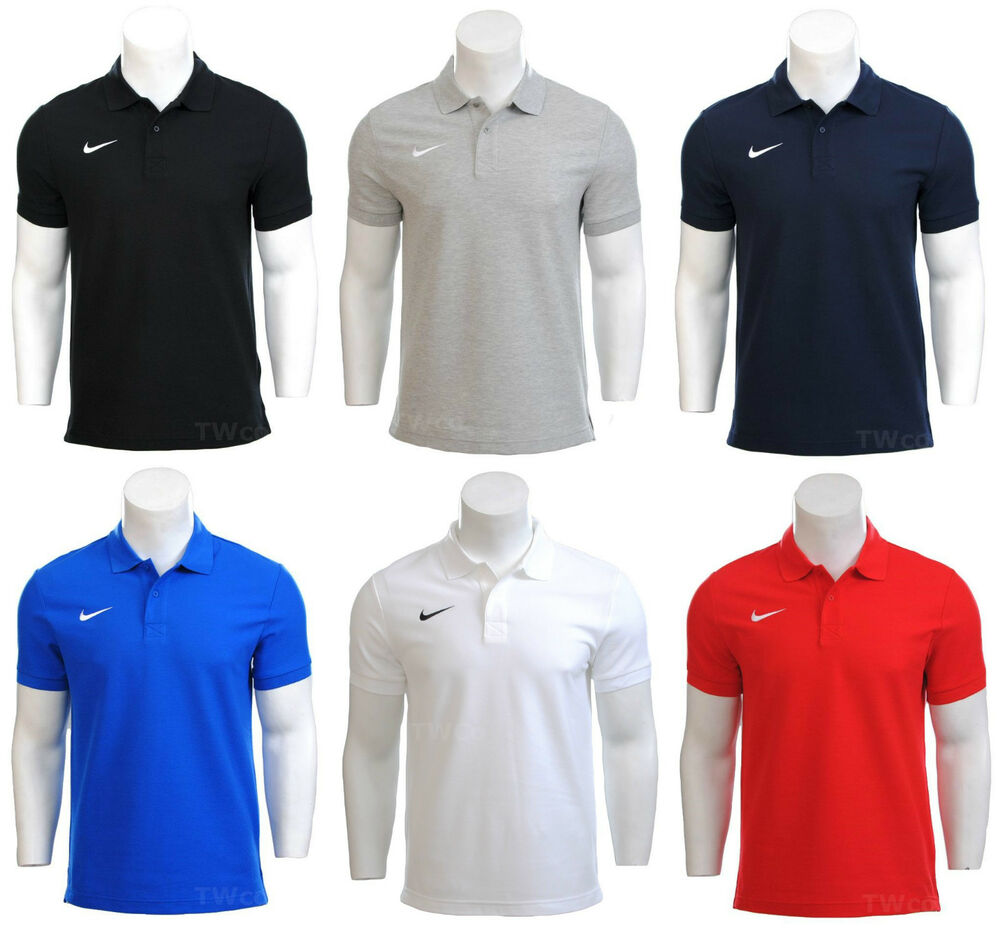 Mens nike dri fit cotton polo football gym golf team t for Nike cotton golf shirts