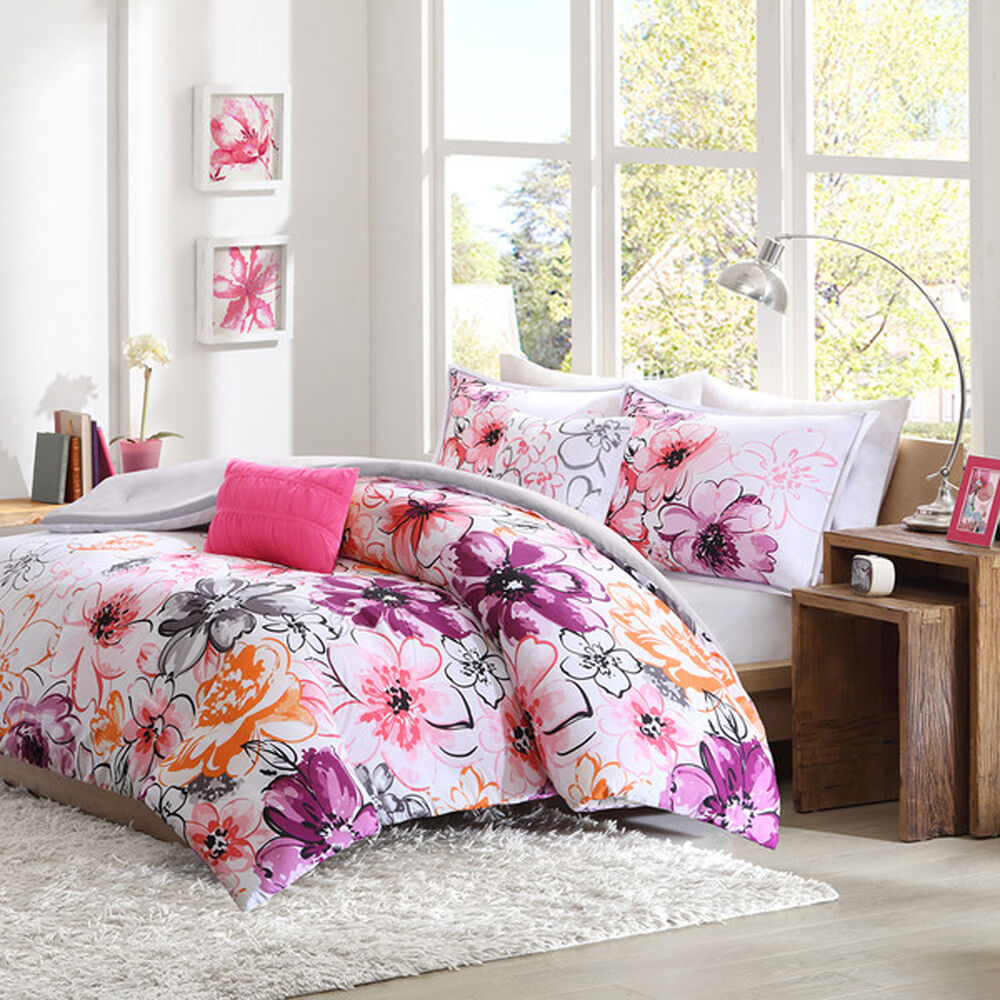 california king size comforter set floral 5 piece bedding reversible
