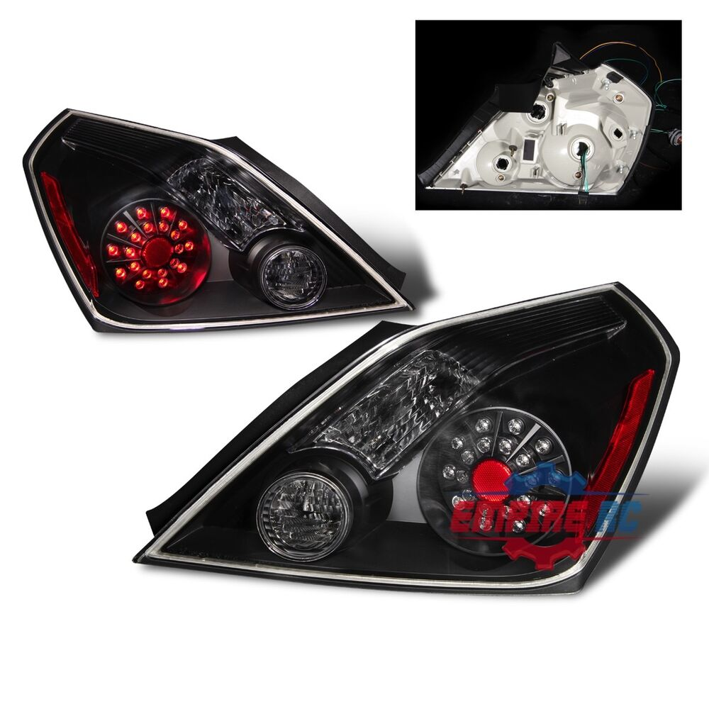 Black Led Tail Lights Replacement For 2008 2010 Nissan