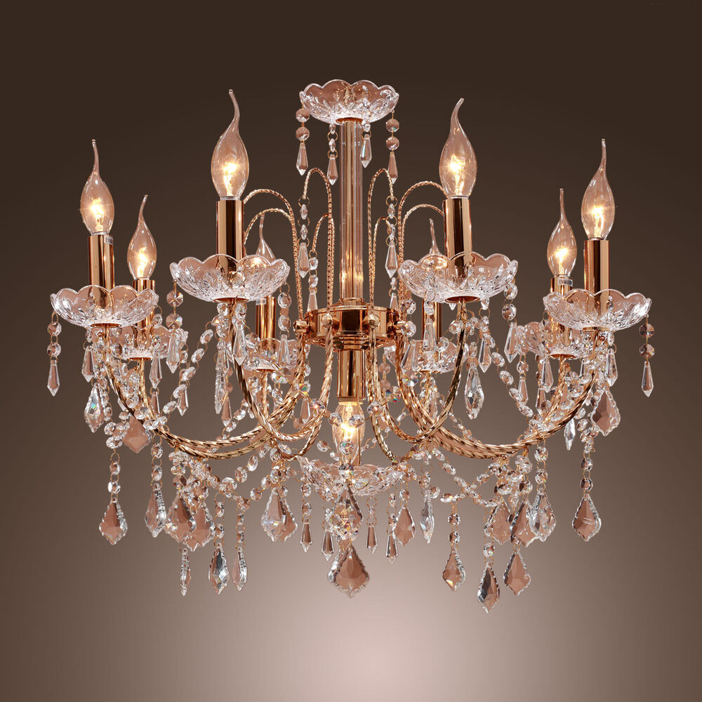 French style 9 light candle crystal chandelier k9 crystal Crystal candle chandelier