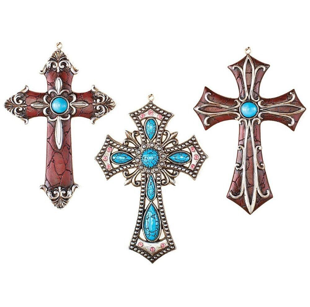 Western Theme Decorations Religious Wall Cross Hanging