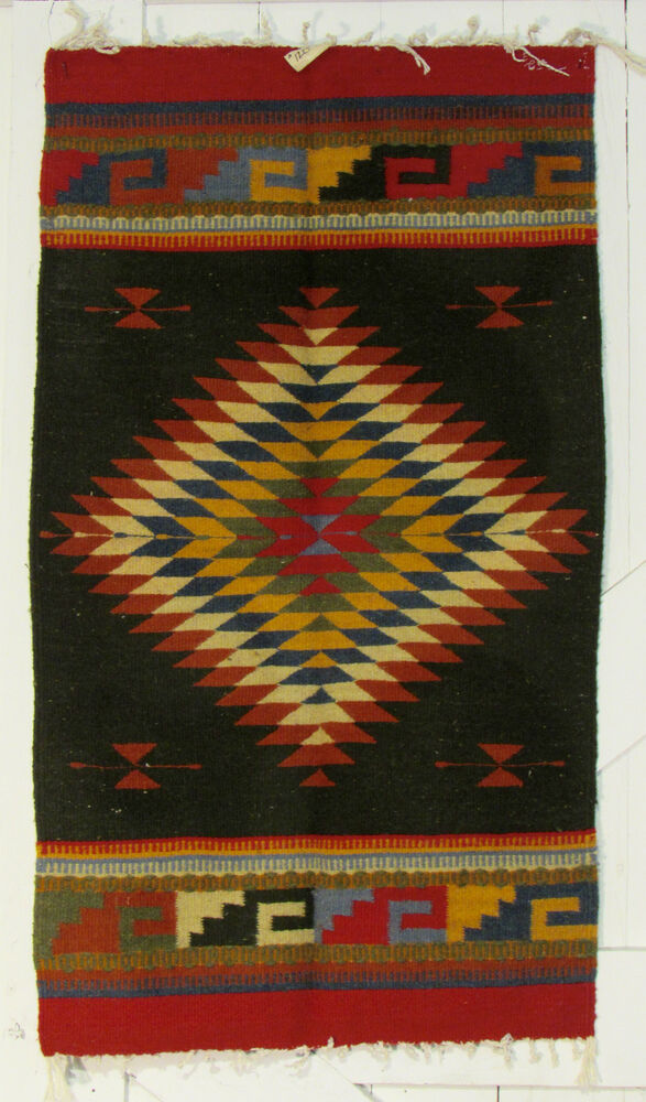 Zapotec Indian Area Rug Southwest 40 Quot X 22 Quot Zr24006 Ebay