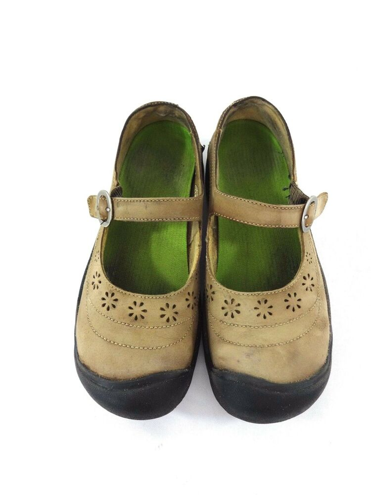 Keen Womens Brown Leather Mary Janes Shoes Size 8 5 Ebay