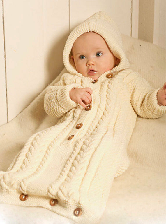 Baby Bunting Bag Knitting Pattern : baby bunting bag knitting pattern 99p eBay