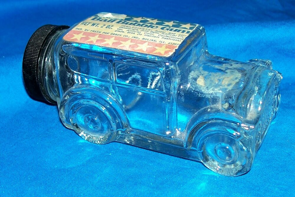 Toy Car Holder Truck : Vintage candy glass car ball bubble gum old toy container
