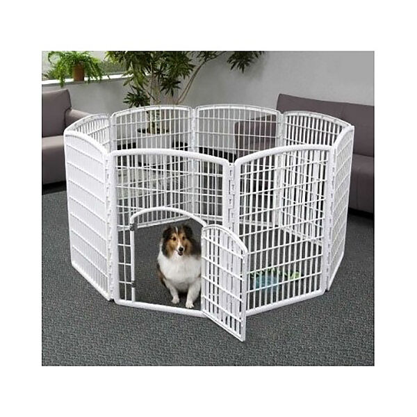 portable dog pen exercise play pet kennel containment indoor outdoor 8 panel new ebay. Black Bedroom Furniture Sets. Home Design Ideas