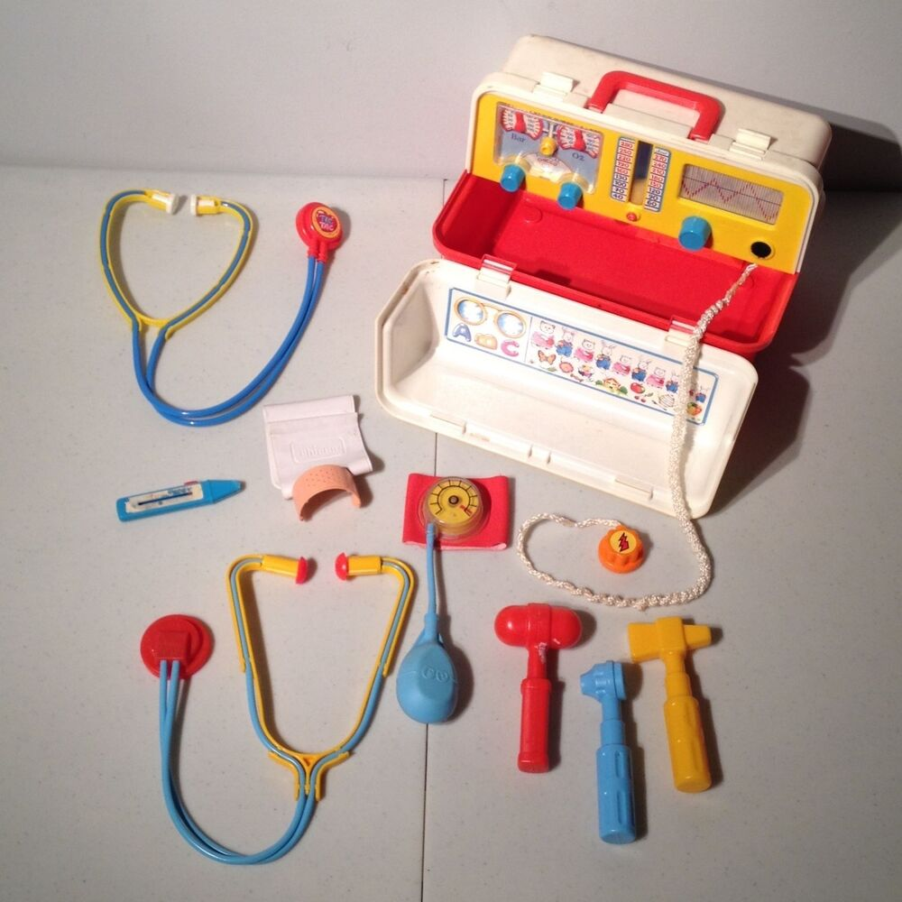 Toy Medical Kit : Vintage chicco fisher price doctor nurse toy medical kit
