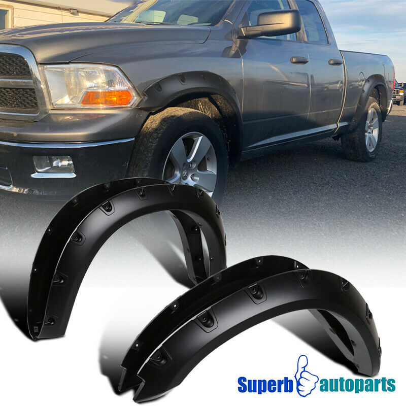 dodge ram 1500 black pocket rivet bolt on style fender flares ebay. Cars Review. Best American Auto & Cars Review