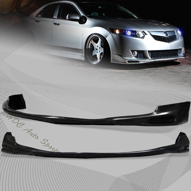 For 2009-2010 Acura TSX Black Polyurethane Front Lower
