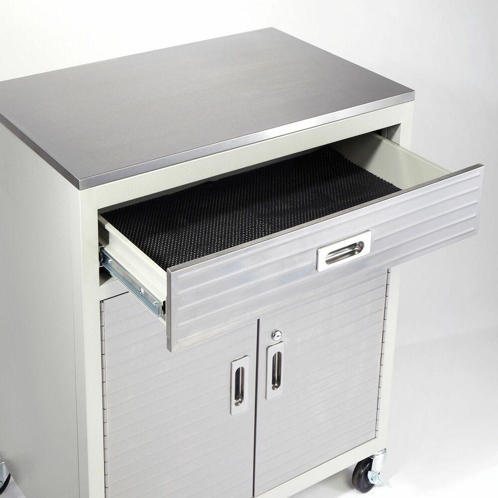 One drawer cabinet stainless steel top classic ultrahd for Stainless steel cabinet door