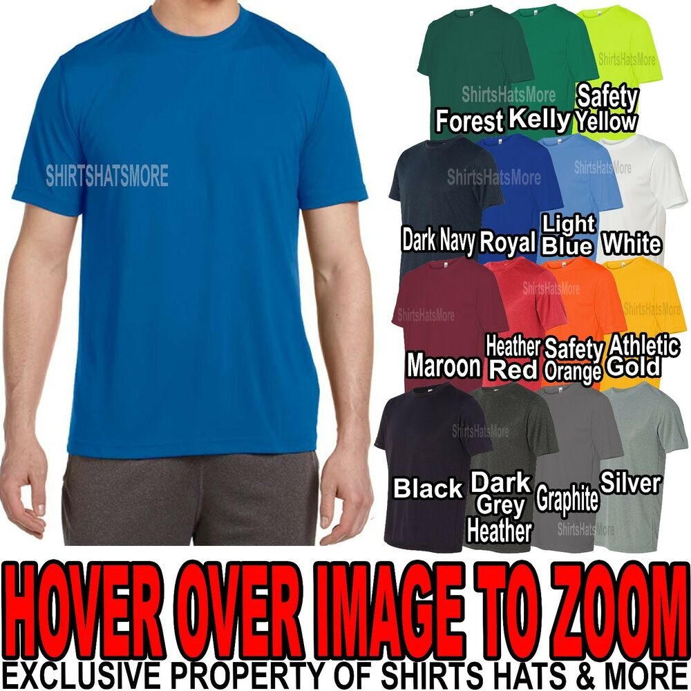 Mens performance moisture wicking tee athletic t shirt dry for What is a performance t shirt