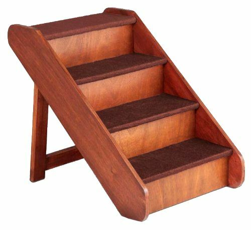 X Large Wood Dog Ladder Pet Stairs Ramp Bed Steps Step 25