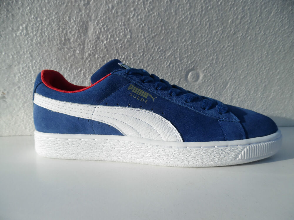 puma suede classic cat herren sneaker turnschuhe blau blue gr 39 46 neu ebay. Black Bedroom Furniture Sets. Home Design Ideas
