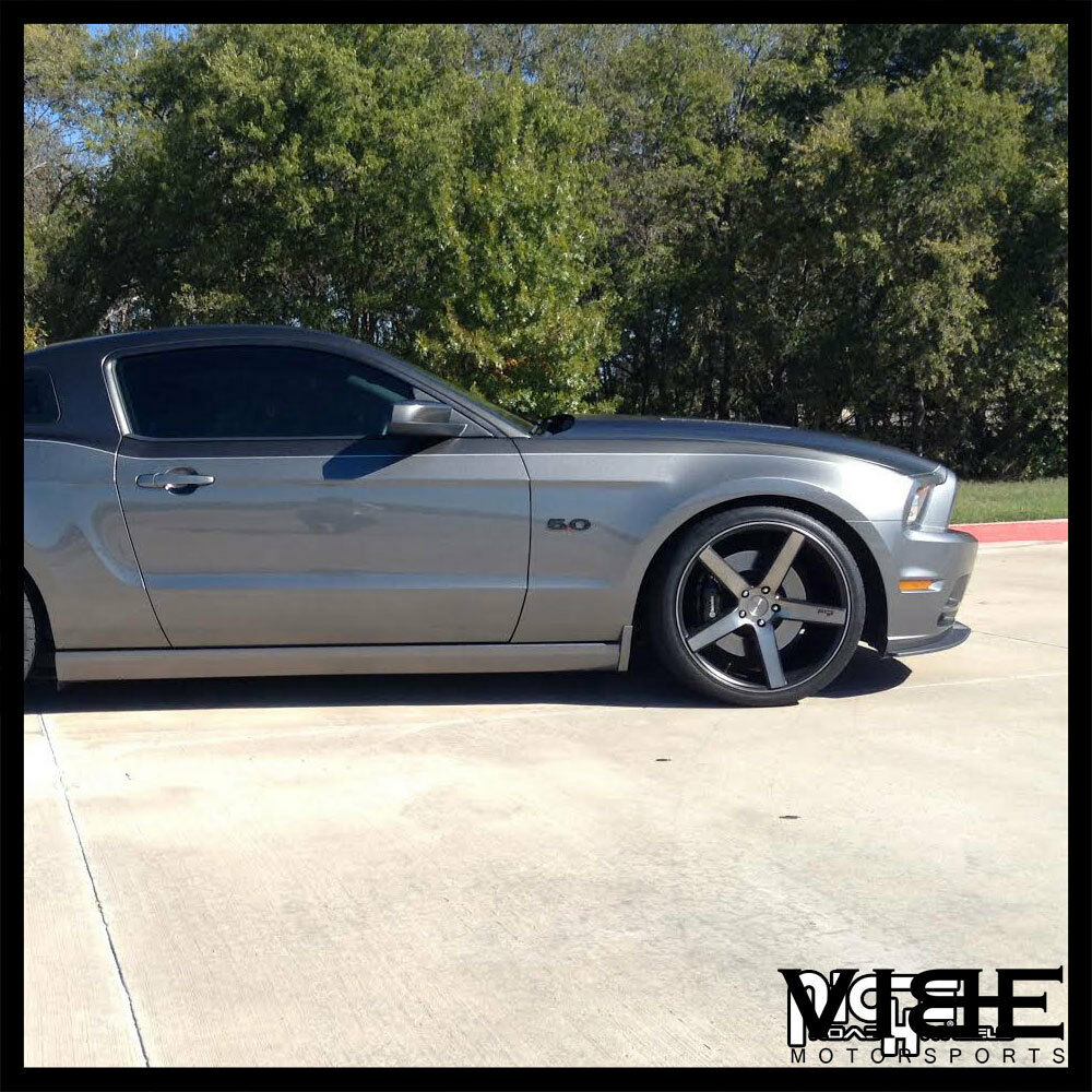 """Black Mustang Silvers: 20"""" NICHE MILAN MACHINED CONCAVE WHEELS RIMS FITS FORD"""