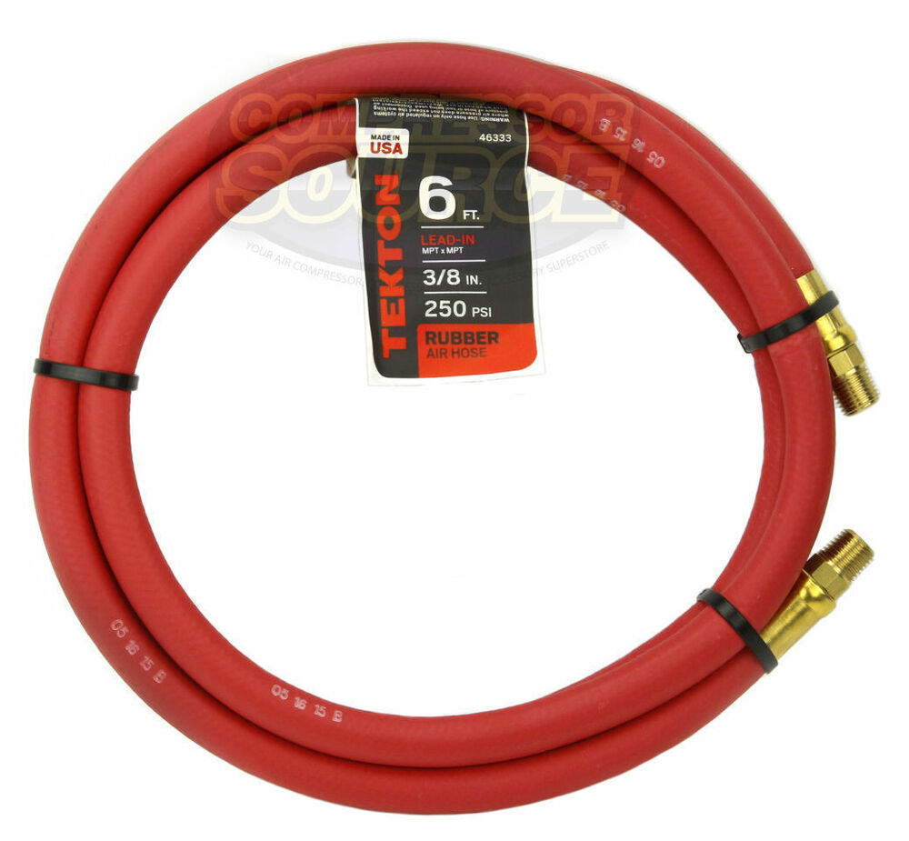 Ft rubber air hose whip lead 250 psi brass ends usa made 46333 ebay