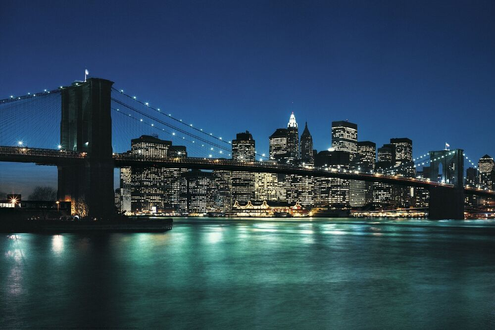 new york city poster 24x36 cityscape skyline nyc 1506 ebay. Black Bedroom Furniture Sets. Home Design Ideas