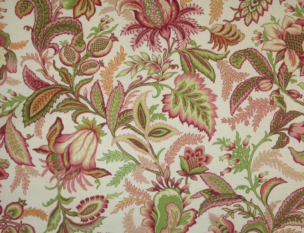 Discount fabric richloom upholstery drapery wicklojs for Floral upholstery fabric