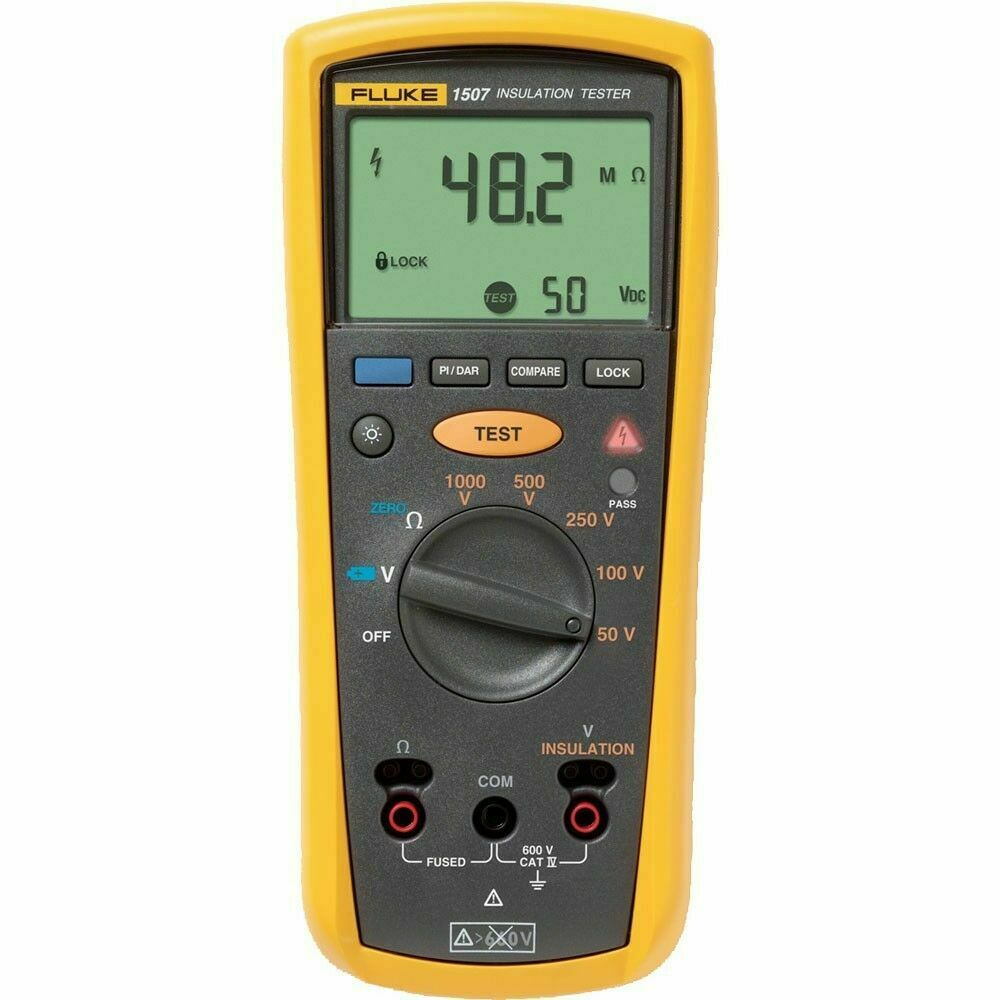 Fluke Insulation Resistance Tester : Fluke digital megohmmeter test voltages insulation