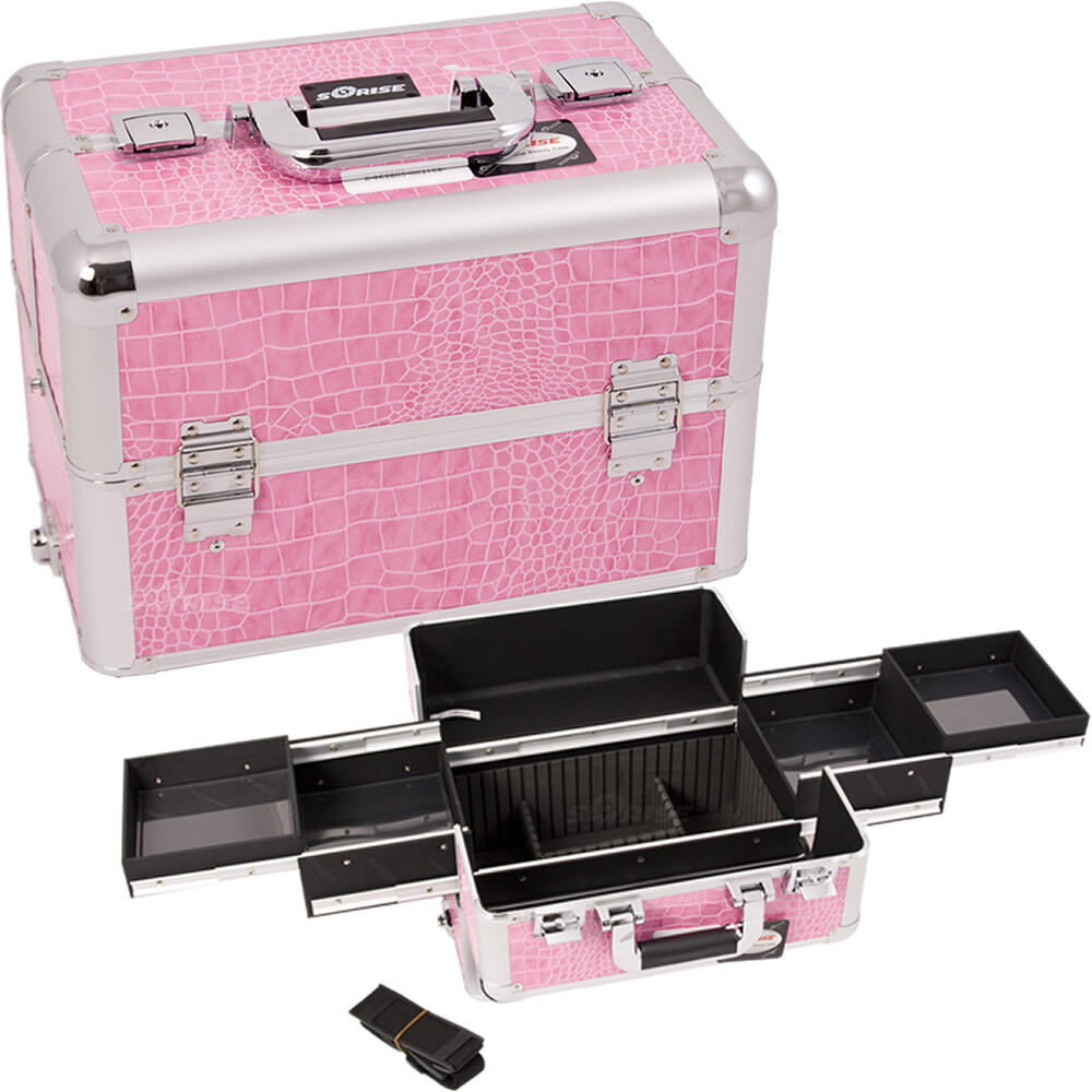 makeup storage box train make up cosmetic luggage organizer travel beauty case ebay. Black Bedroom Furniture Sets. Home Design Ideas