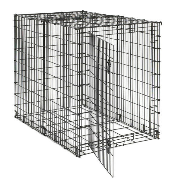 54quot xxl giant extra large breed dog pet crate cage kennel for Xl indoor dog kennel