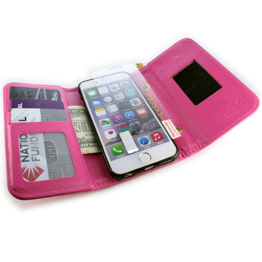 for apple iphone 6s iphone 6 wallet case hot pink purse. Black Bedroom Furniture Sets. Home Design Ideas