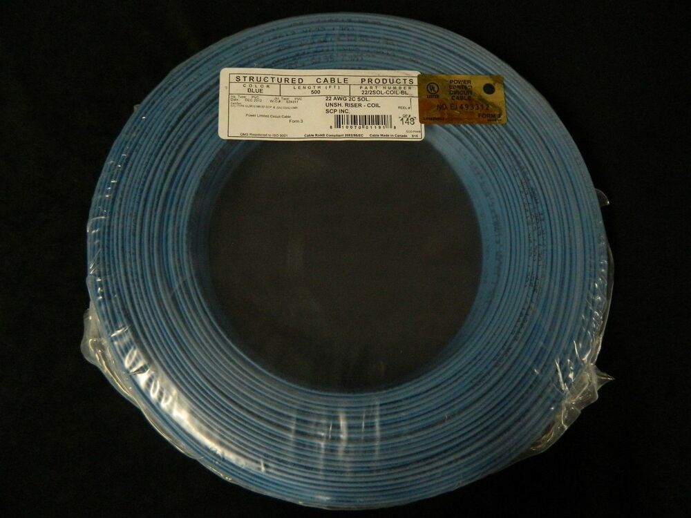 Copper Wire 1 2 Difference : Gauge conductor ft blue alarm wire solid copper