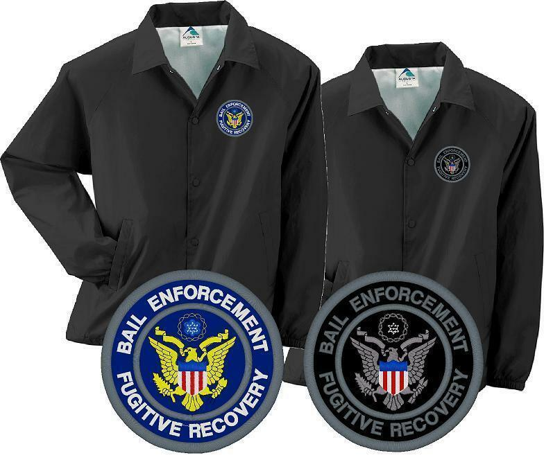 bail enforcement fugitive recovery agent embroidered