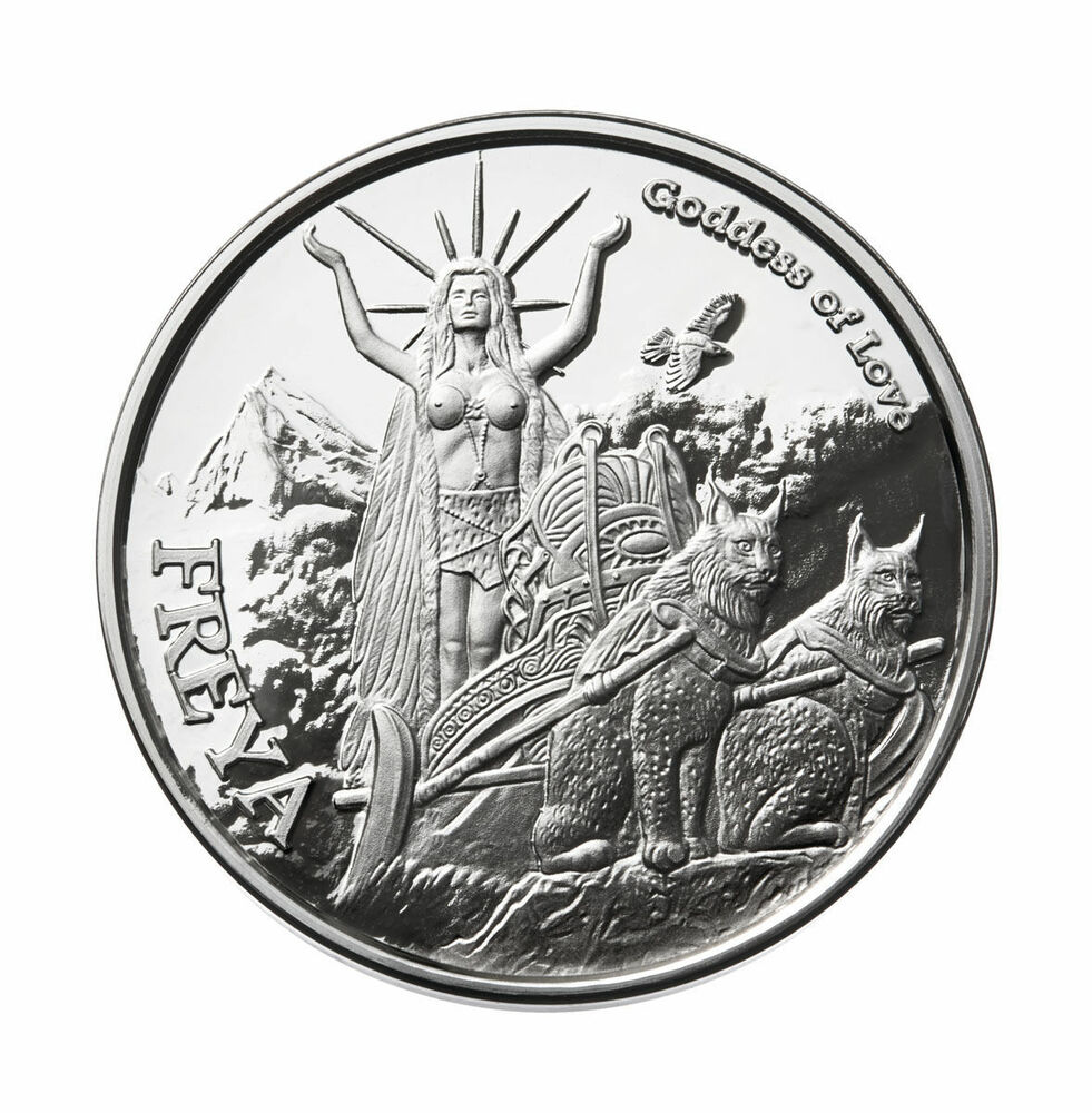 1 Oz Freya Proof 999 Silver W Coa Valkyrie Norse Gods