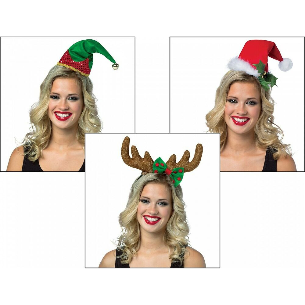 Fun Christmas Party Ideas For Adults: Christmas Headbands Adult Funny Holiday Party Costume Hat