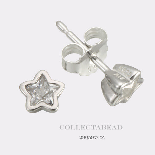 Pandora Silver Stud Earrings: Authentic Pandora Silver Starshine Clear CZ Stud Earrings