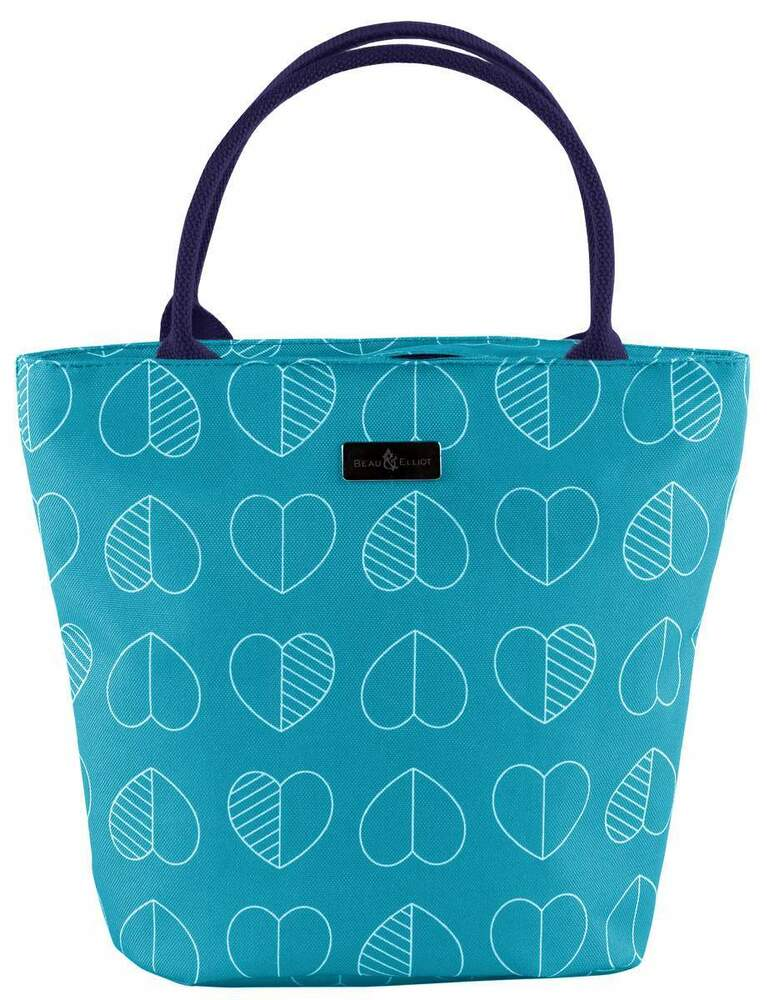 Beau Amp Elliot Confetti Outline Insulated Lunch Tote Teal